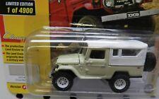 TOYOTA LAND CRUISER DUNE BEIGE 4X4 SUV 4900 1980 80 WHITE JL JOHNNY LIGHTNING