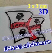 Adesivo Sticker Bandiera sventolante 3D - 4 mori, Sardegna Souvenir