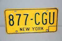 1973-1986 New York License Plate # 877-CGU Car Man Cave Chevy Ford YOM