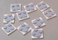 LEGO - 10 x flache Drehscheibe 2x2 hellgrau weiss 3680c02 3680 3679 NEUWARE