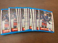 1989-90 O-Pee-Chee OPC Hockey #136 Brian Leetch Rookie RC 10 Card Lot