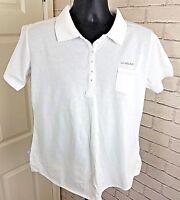 La Gear T-Shirt Pique Polo Short Sleeve White Size UK 12 Occasion