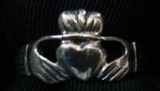 LOOK Buffy The Vampire Slayer Silver CLADDAGH RING size 14