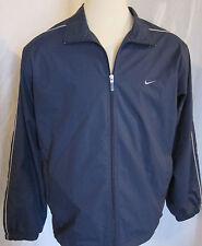 NIKE Navy Blue Full Zip Windbreaker Jacket Coat Shirt Size XLARGE NWOT
