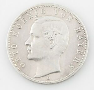 1898 GERMANY OTTO KOENIG 5 FUNF MARK GERMAN FOREIGN COIN ALMOST UNCIRCULATED
