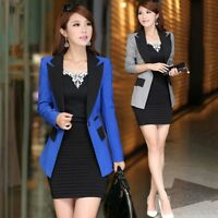 Womens Formal Business Suit Blazer Slim Fit Jacket One Button Outwear Coat Top