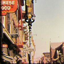 2 Vtg Kodachrome Color 35mm Slides San Francisco Chinatown Vinton Street 1950s