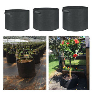 1-30 Gallon Flower Plant Grow Bags Aeration Fabric Planter Root Growing Pots 03