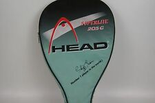 Raquetball racket Head Comp 205G superlite w Cliff Swain signature cover