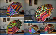 Indian Parasol Cotton Embroidered Mini Women's Sun Shade Umbrella 10 PC Lot