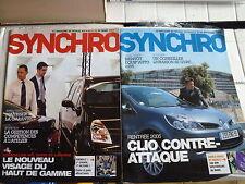 2 magazines SYNCHRO RENAULT Réseau n°89 et 93 2005 Clio 3 Velsatis Laguna 2