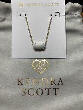Kendra Scott Ever Pendant Necklace - White Kyocera Opal/Gold Retail 85.00