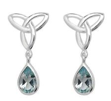 Unbranded Butterfly Fastening Topaz Natural Fine Earrings