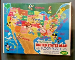 VINTAGE DISNEY United States of America Floor Puzzle  MINT RARE
