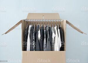 Caja armario de cartón ( Pack de 5 unidades) (81x42x31)