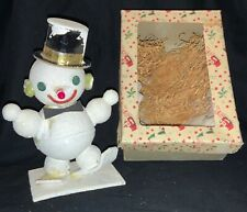 VINTAGE JAPANESE SKIING SNOWMAN WITH BOX