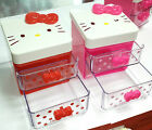 SANRIO New Hello Kitty Jewelry Box Case 1 Pcs Organizer Storage Box Girls Gift