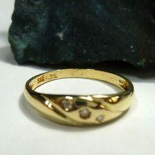 Ring Damenring 55 (17,5 mm Ø) 585 / 14k Gold mit Diamant 0,05ct