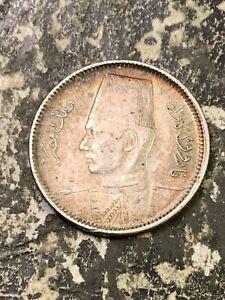 1937 Egypt 2 Piastres Lot#Z1582 Silver! High Grade! Beautiful!
