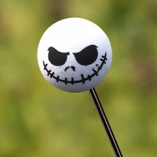 1PC Halloween Skull Smile Car Antenna Topper Aerial Ball Decoration Toy White