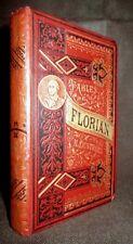 """FABLES de FLORIAN"" gravure engraving FREEMAN & PHILIPPOTEAUX Poesie Poetry 1884"