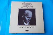 "WILHELM BACKHAUS 3 LP BOX SERIE ""GRANDI MAESTRI"" BEETHOVEN NUOVO"