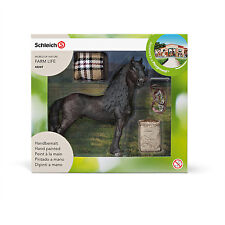 HORSE CARE SET WITH FRISIAN by Schleich; NEW 2016 model/horse/toy/42269