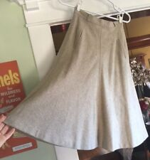 "Vintage Bobbie Brooks Womens Tan Beige Wool A Line Skirt XS 1970s 25"" waist"