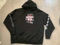 Anti Social Social Club Invisible Man Hoodie XXL Assc Box Logo Rare Vtg Hype