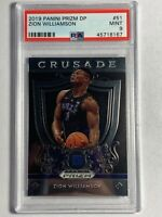 1 Zion Williamson 2019 Panini Prizm DP #51 Rookie RC Crusade - PSA Mint 9