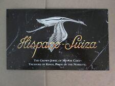 Franklin Mint Brochure 1925 Hispano Suiza Kellner H6B