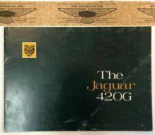 """Prospekt, Jaguar 420 G, französisch, 4 Seiten, Einschub """"Dimensions & Couleurs"""""""