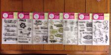 Lot of 7 Scrappy Cat Clear Acrylic Stamps Sets Birthday Family Phrases Baby Girl