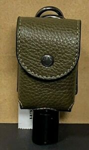 Coach Container with Bottle Holder Leather Dark Green 5764 New