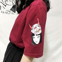 Kawaii Clothing Demon T-Shirt Oni Hannya Punk Harajuku Korean Japanese Ulzzang
