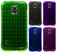 For Samsung Galaxy S5 Active G870 TPU CANDY Gel Flexi Skin Case Cover Plaid