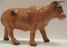 Old Unusual Us Zone Germany Composition Cow Bull Spring Horns Christmas Nativity