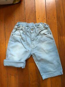 Zara Boys Shorts Size 4/5 Light Blue Colour, Excellent Condition