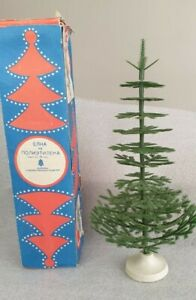 Vintage Mini Christmas Tree Plastic 1970s Antique 30cm Boxed