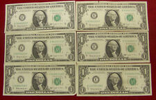 1963 B Joseph W. Barr $1.00 Notes - (6) Richmond, Va & ( 2) New York, NY  A to H