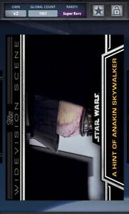 Star Wars Card Trader 2015 Widevision A Hint of Anakin Skywalker Award