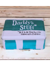 Bright side daddy's stuff tin , novelty tin for gadgets , man toys .great gift
