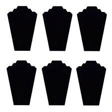 Necklace Jewelry Display Stand Black Velvet Pendant Holder Mannequin 6 Pieces