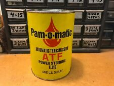 Pam-o-matin ATF Automatic Transmission Power Steering Fluid Composite Can Oilcan