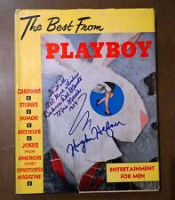 Rare 1954 Playboy Annual with Dust Jacket & Signed By HH+Bunnies-NonProfit