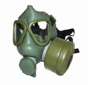 Military Army Surplus Yugoslavian Gas Mask And Filter Fetish Rubber