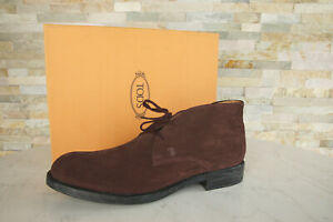 Tod `S Tods 44,5 10,5 Lace Up Ankle Boots Shoes Aubergine New Ehemuvp