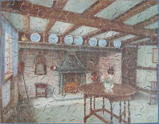 """Vintage """"Mayfair"""" wooden jigsaw puzzle. """"The Old Kitchen"""""""