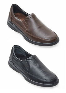 MENS PADDERS GRAVITY WIDE FITTING LEATHER SLIP ON CASUAL SHOE
