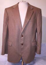 Brooks Brothers Italian Camel Hair Tan Khaki Blazer Sport Coat Jacket Sz 44 R